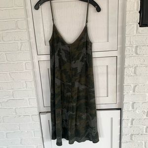 ATM army print cotton slip dress